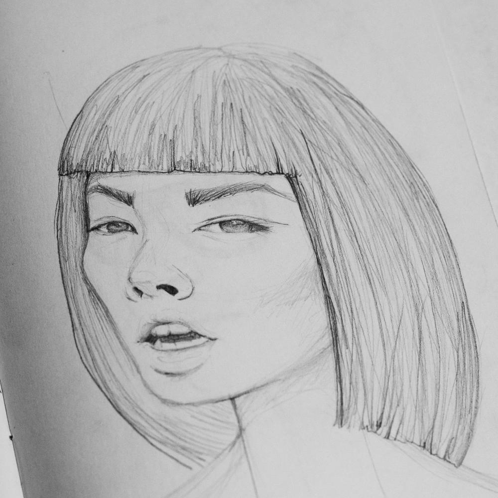 mariadelcastillo-artist-illustration-digital-portrait-art-a-letter-for-a-draw