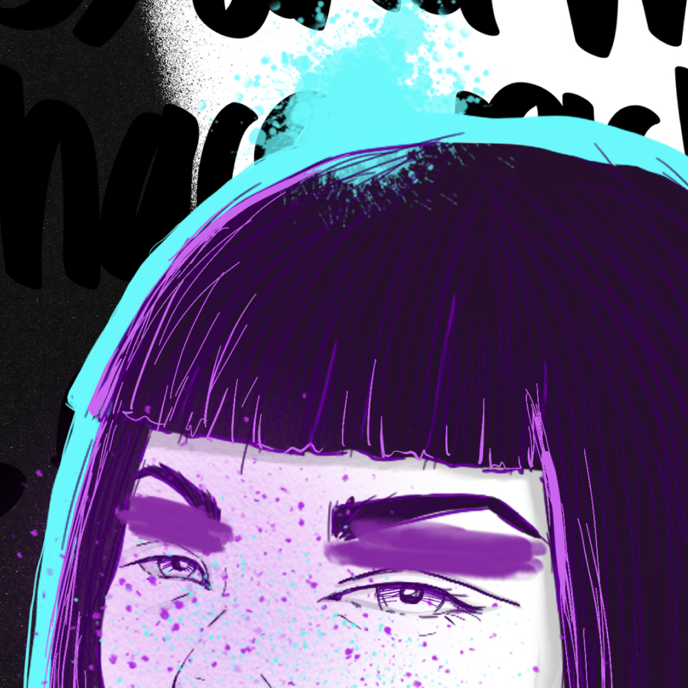 mariadelcastillo-artist-illustration-digital-portrait-art-a-letter-for-a-zoom
