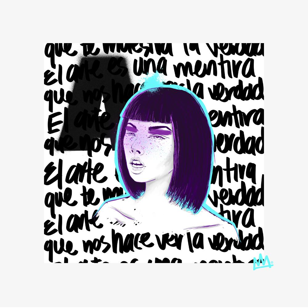 mariadelcastillo-artist-illustration-digital-portrait-art-a-letter-for-a